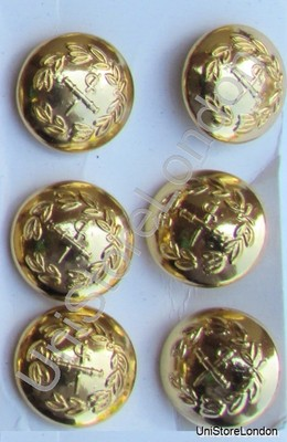 Button General Staff Military Army Gold 17mm R749