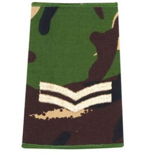 Epaulette Camo DPM 2 Bars Rank Slide Army Military Corporal R1069
