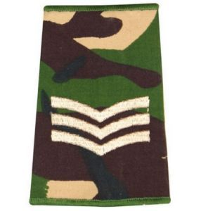 Epaulette Camo DPM 2 Bars Rank Slide Army Military Sergeant R1070