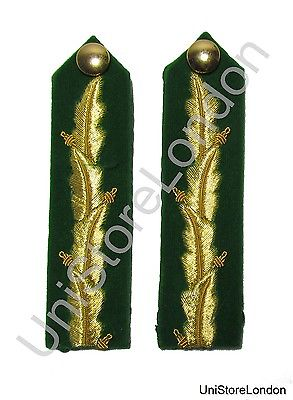General's Service Dress Oak leaf Gorgets Green 4 1/2'' Long Sold Pair R1490