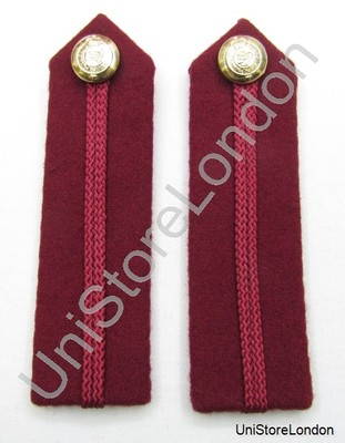 Gorget Collar Staff Gorget Patches Maroon RAMC No 1 Dress L4 3/4'' R861
