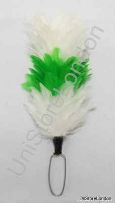Hackles Plumes White Light Green White R1173