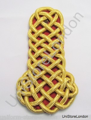 Shoulder Board Naval All Gold Wire Cord Red Backing Sold Single R1116