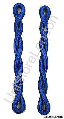Shoulder Cords Blue Silk Single Ply Twisted Sold Pair R1485